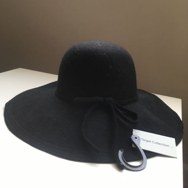 Target Black Floppy Hat Wool