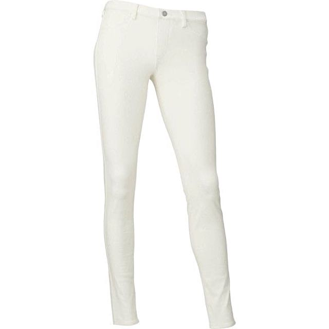 Uniqlo White Stretch Jeans