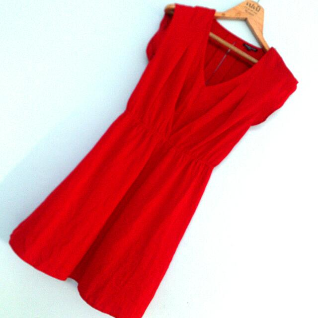 Warehouse Chilli Red Dress Size UK10