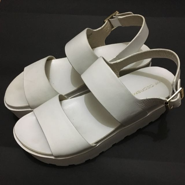 Windsor Smith Fend White Chunky Platform Sandals Size 7