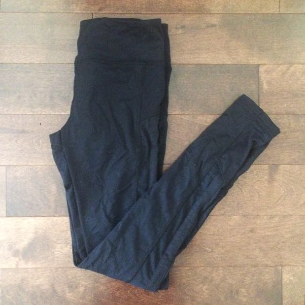 Yoga/workout Legging With Mesh Cutout
