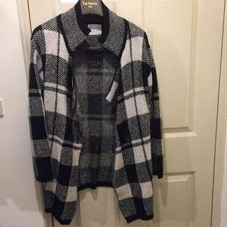 毛料格紋外套