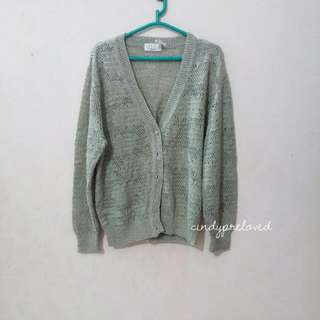 Green Batwing Cardigan