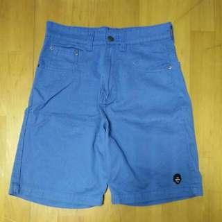 全新 西門 專櫃 正品 Target 黑人頭 男 硬挺 短褲---藍(29腰)