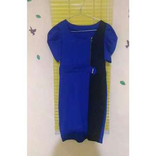 Dress Pesta Bodycon Blue Black Fitbody