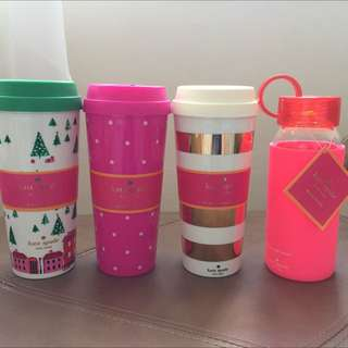 Kate Spade Cups/Bottle