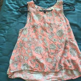 Miss Shops Pink Shiva Pattern Shirt