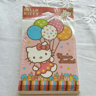 Hello Kitty 8 Invitation Cards