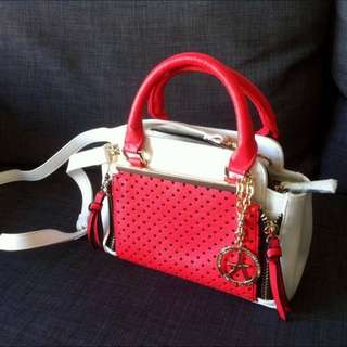 Corail And White Small Bag