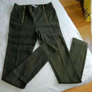 Paper Scissors Khaki Stretchable Pants