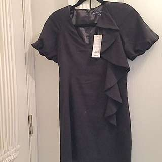 French Connection Black Asymmetrical Dress