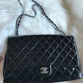 CHANEL SHINY BLACK BAG ( Not Authentic)