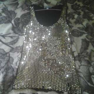 Shinny Gold Singlet !