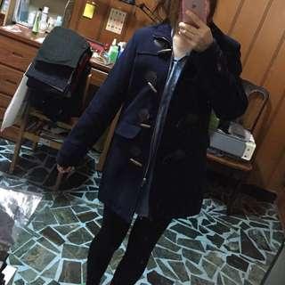 🚚 深藍色毛呢外套