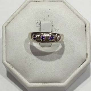 925 Silver Ring Set With Precious Stone