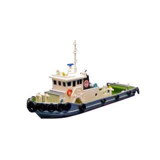 [N 1/150] Model Of A Diesel Tug Boat [Tomytec] NEW