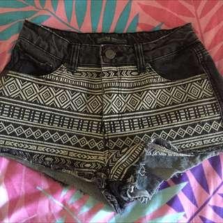 Bershka Hotpants Denim Black