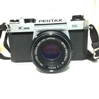 Pentax K1000 SE with 50mm F2 Lens Working