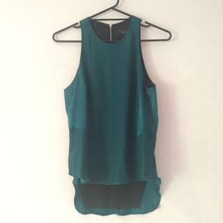 Silk Teal Top