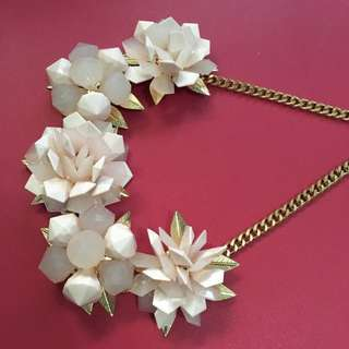 REPRICE Pink Flower Marni Necklace