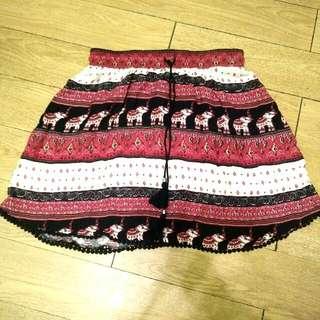 🚚 H&M大象民俗風短裙