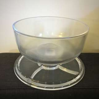 3 In 1 Punch Bowl / Dip Platter / Dessert Dome