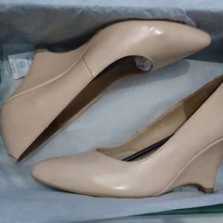 Wedges Shoes Beige Apple Green