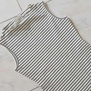 Forcast Striped Midi Dress