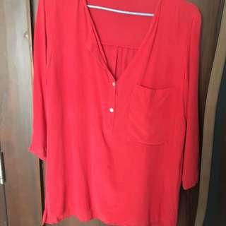 Zara Red Shirt