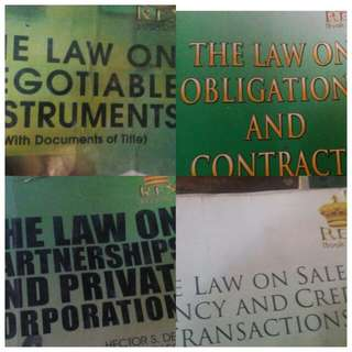 BUSINESS LAW Books  Oblig CON, Sales & AGency, NEGotiable INSTruments, Partnership & corpo.