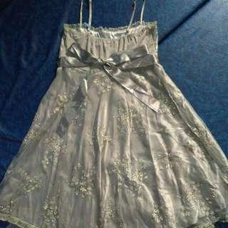 Reprice -.Mini Dress silver 126 ( One Two Six)