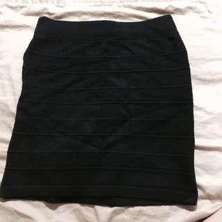 清✨黑色彈性包窄裙
