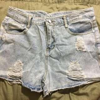 清✨高腰牛仔短褲
