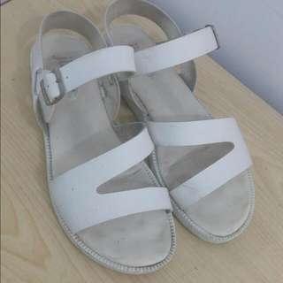韓系白色涼鞋