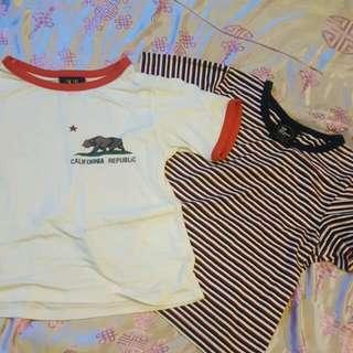 Half Crop Shirts.