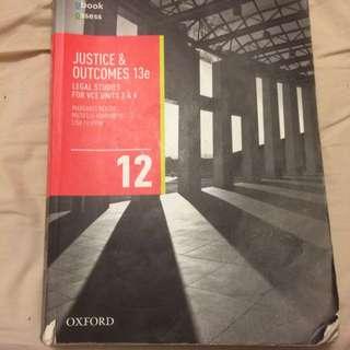 Justice & Outcomes 13e VCE 3&4 PLUS TMAC's Legal Notes