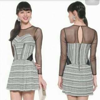 BNWT Love Bonito Covet Mesh Tweeted Dress