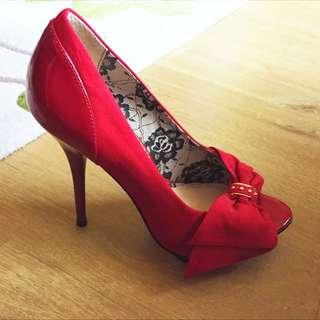 River Island Peeptoe Shoes, Size UK6 EU39