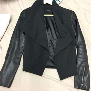 Bardot Leather Sleeve Jacket