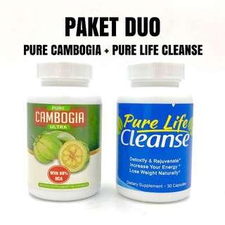 [ paket duo ] pure cambogia ultra pure life cleanse original