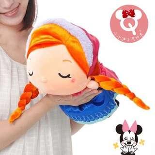 🔥出清便宜賣🇭🇰香港迪士尼 冰雪奇緣❤️Q版 Anna安娜趴睡絨毛玩偶❤️