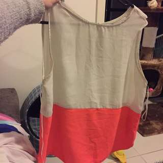 Sheer Block Shirt