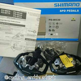 Shimano M530 SPD Trail Clipless Mtb Pedals With SM SH-51 Cleats!