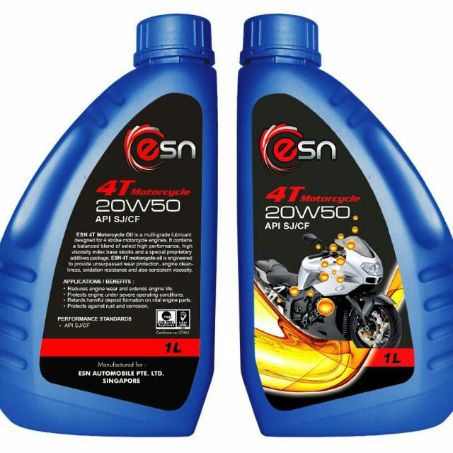 Buy 3 at the price of 2 ESN Engine Oil (For Bikes