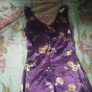 REPRICED!Glossy Violet Dress