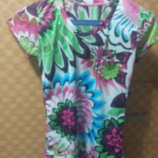 REPRICED!Green Floral Blouse