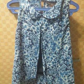 REPEICED!! Or Choose 4 For 100 On  Blouses!!Flowery Blue Top