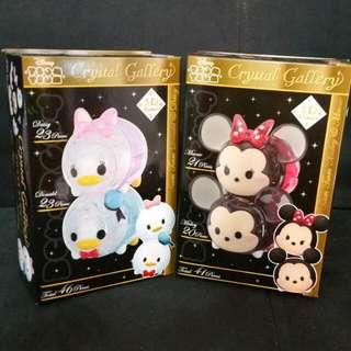 Instock Authentic Japan Disney Tsum Tsum 3D Crystal Puzzle ~ Mickey Minni Daisy Donald Duck * Japan Version *