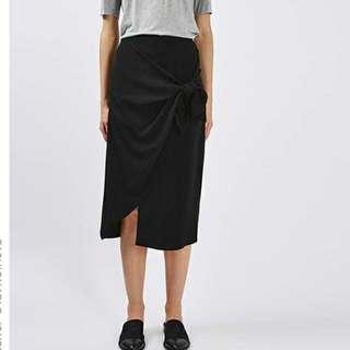 Brand New High Waist Black Skirt With Bow