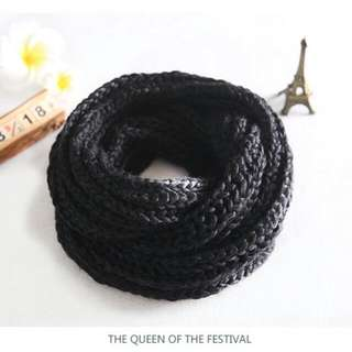 CK Black Knitted Shawl